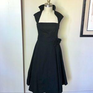 Vintage Inspired Black Rockabilly Dress, Size M